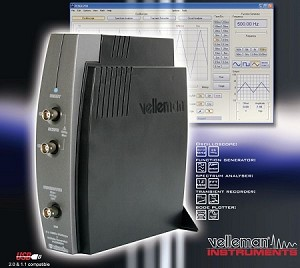 USB-PC Scope + Generator (2 CH) PCSGU250 Velleman