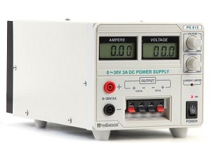PS613U LABORATORY POWER SUPPLY (0-30VDC + 5VDC + 12VDC) WITH LCD DISPLAY by VELLEMAN